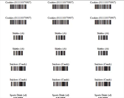print and create barcode labels for products